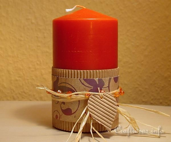 Autumn Candle Wrap
