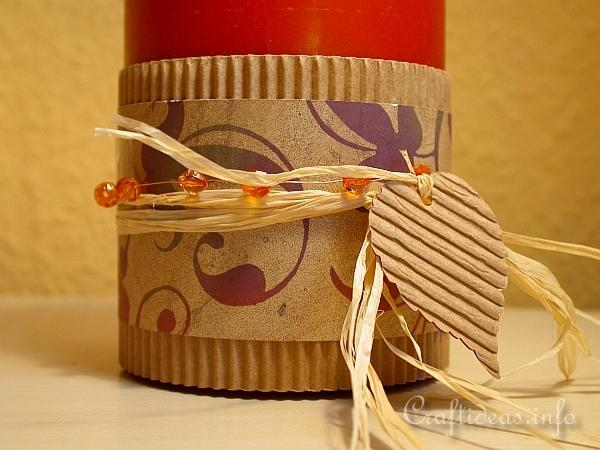 Autumn Candle Wrap 2