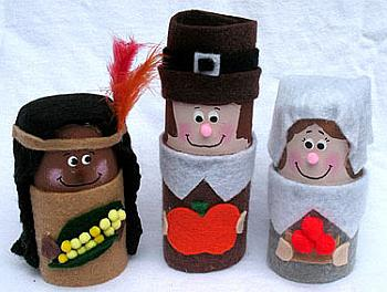 Cardboard Pilgrims and Indians - Crafts by Amanda