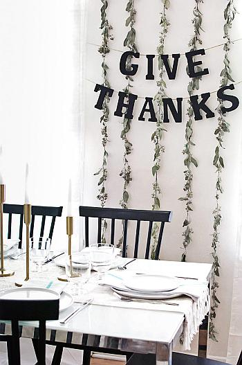 DIY Simple Thanksgiving Garland - Homey Oh My