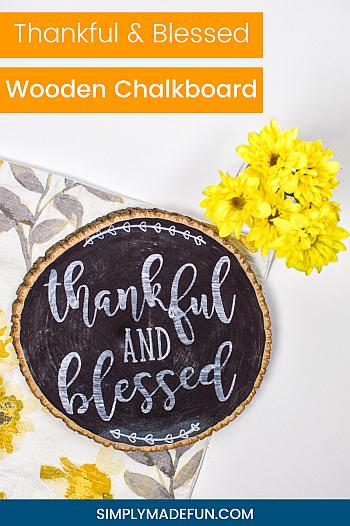 DIY Thankful Chalkboard - Simply Made Fun