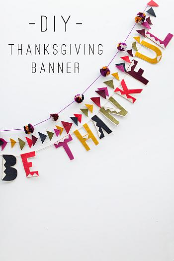 DIY Thanksgiving Banner - Tell Love and Party