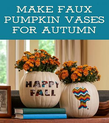 Faux Pumpkin Vases - Mod Podge Rocks