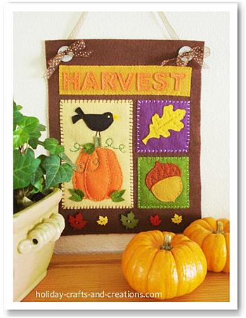 Felt Thanksgiving Banner - Holiday Crafts and Creations