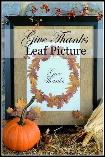 Give Thanks Leaf Picture - Stone Gable Blog