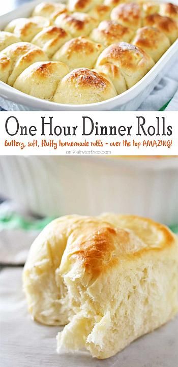 One Hour Dinner Rolls - Kleinworth and Co