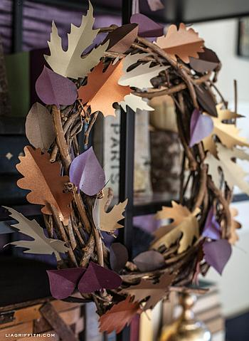 Paper Leaf Wreath - Lia Griffith