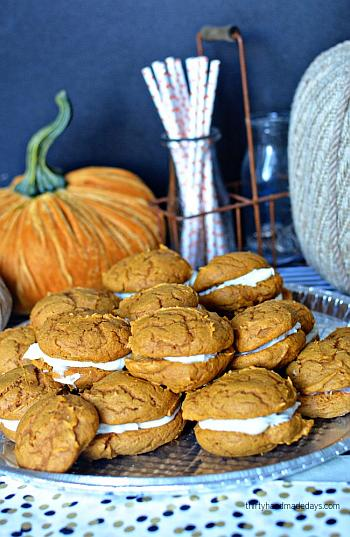 Pumpkin Whoopie Pies - Thirty Handmade Days