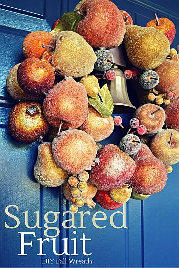 Sugared Fruit Autumn Wreath - Mad in Crafts
