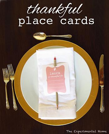 Thankful Place Cards - The Experimental Home