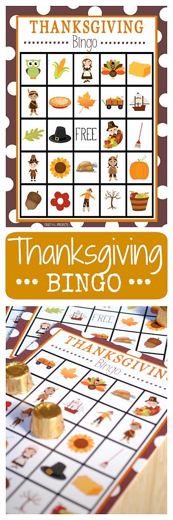 Thanksgiving Bingo - Crazy Little Projects