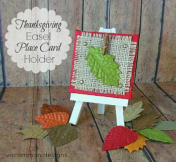 Thanksgiving Easel Place Card Holders - Uncommon Designs