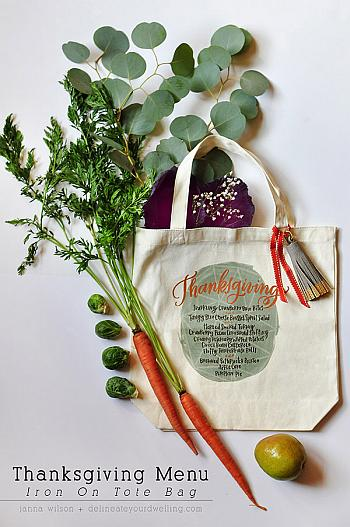 Thanksgiving Menu on a Tote Bag - Delineate Your Dwelling