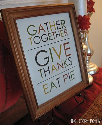 Thanksgiving Printable - The Craft Patch Blog